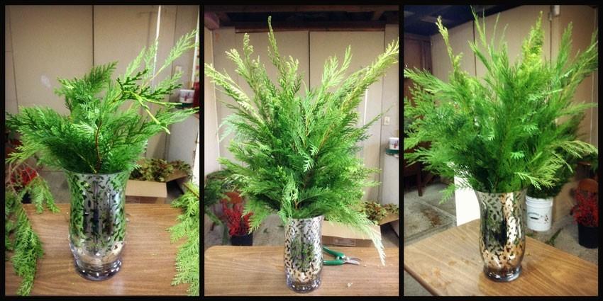 Navidad-Christmas-Arreglo-navideño-rellenando-con-pino