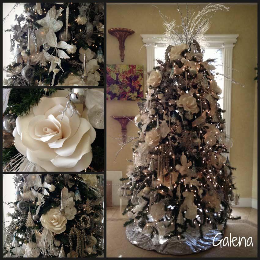 Ideas para decorar el rbol de navidad ana galena - Decorar arbol de navidad blanco ...