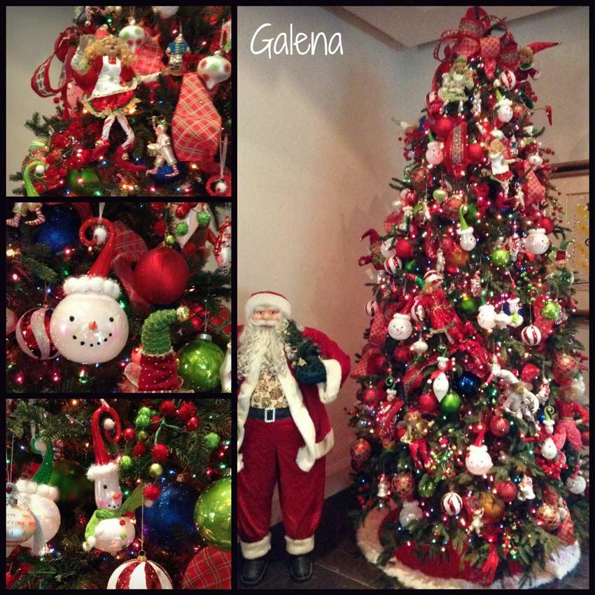 Navidad-Christmas-Decoracion-Arbol-Navideño-de-los-monos-de-nieve