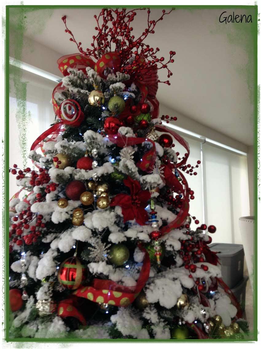 Ideas para decorar el rbol de navidad ana galena for Fotos decoracion navidad