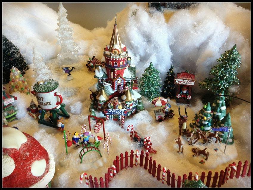 Navidad christmas decoracion navide a la casa de santa - La casa de la navidad ...