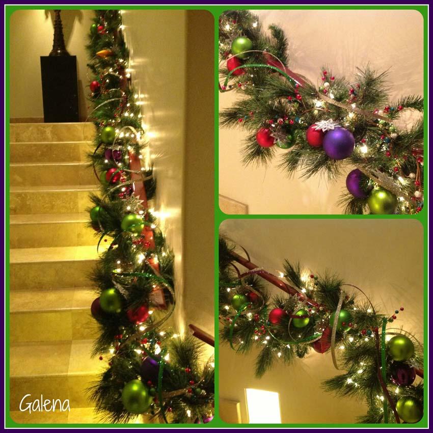 Navidad christmas decoracion navide a guirnalda navide a - Decoracion navidena escaleras ...