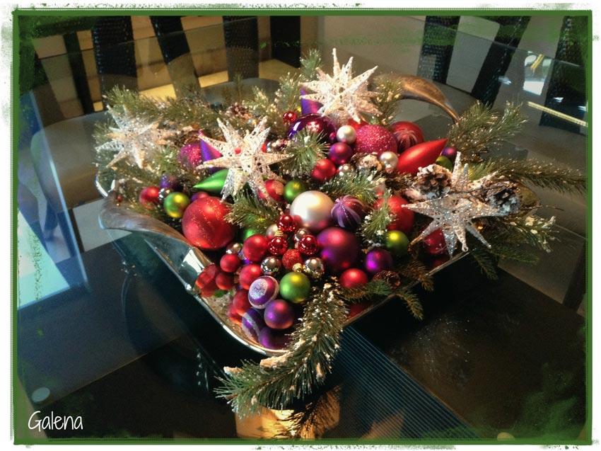 Navidad-Christmas-Decoracion-navideña-centro-de-mesa-con-esferas-2