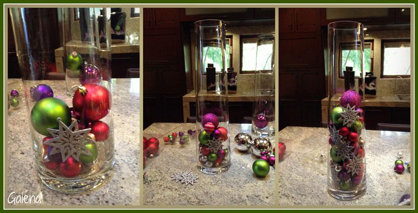 decoraciones con bolas navideñas