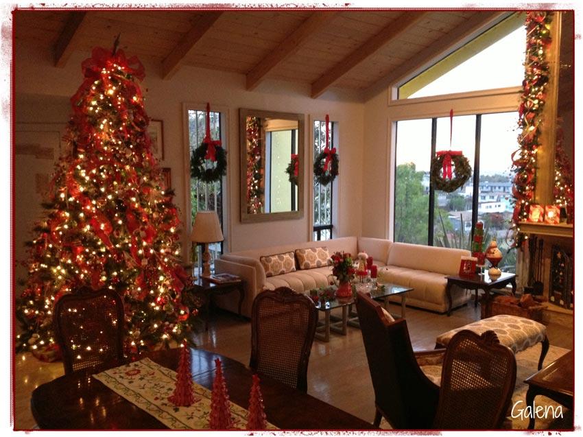 Navidad christmas decoracion navide a sala ana galena for Decoracion mesa navidena 2014
