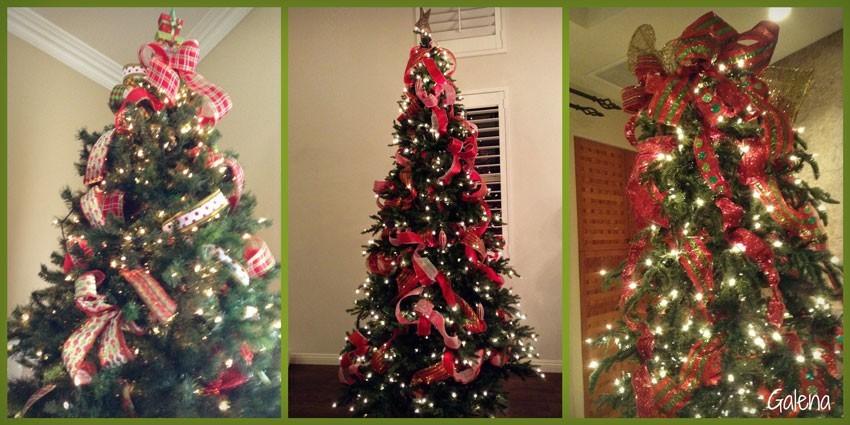 Para poner los listones al rbol de navidad ana galena for Arboles de navidad para poner en la pared