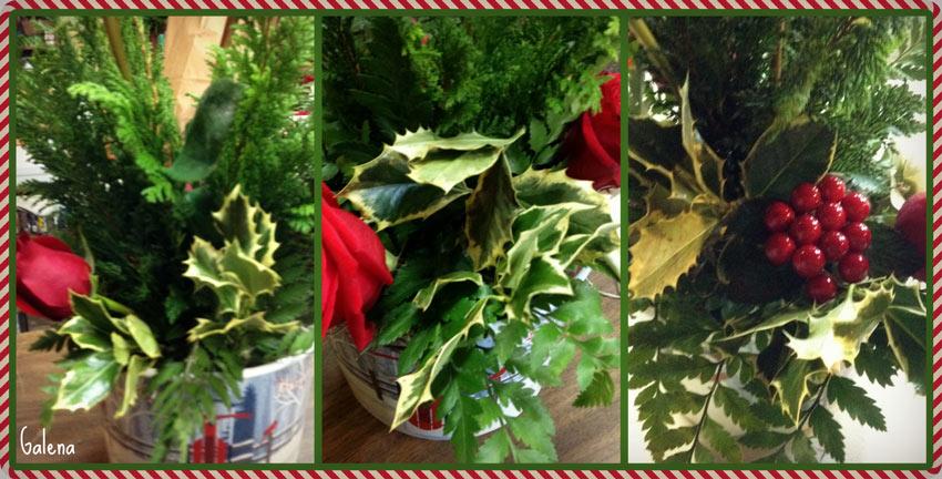 Navidad-Christmas-arreglo-navideño-acebo-en-el-arreglo