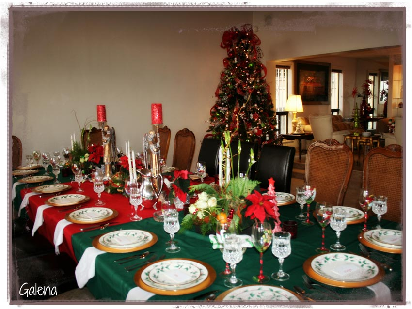 Navidad christmas centro de mesa mesa navide a ana galena for Centro mesa navidad