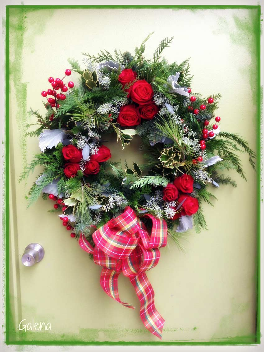corona navide a para la puerta ana galena