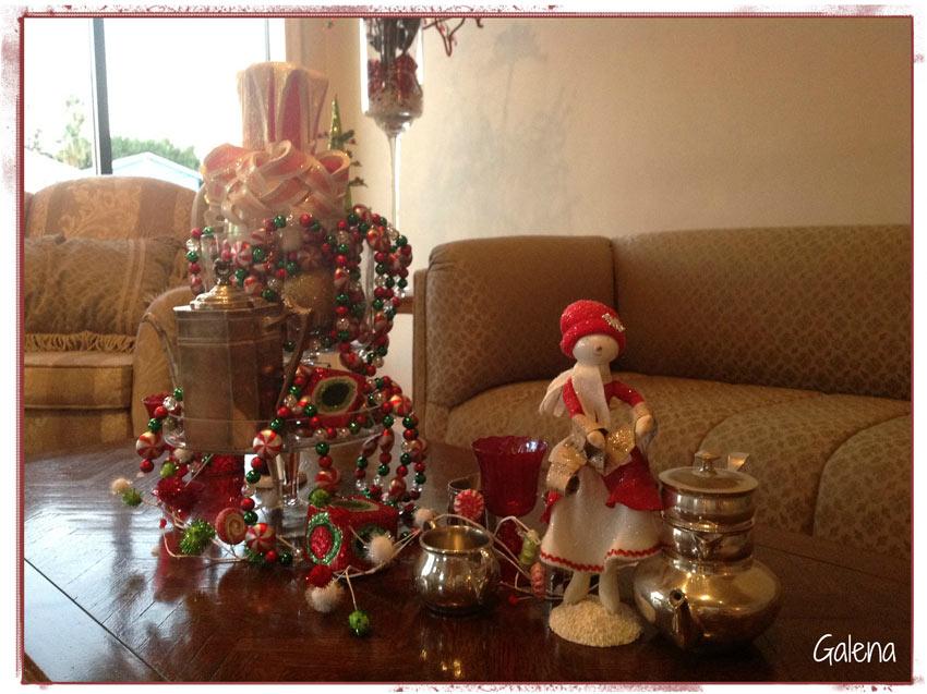 Navidad christmas decoracion navide a mesa xmas ana galena - Decoracion de mesa navidena ...