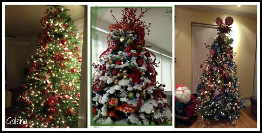 Ideas para decorar el rbol de navidad ana galena for Arboles navidenos decorados