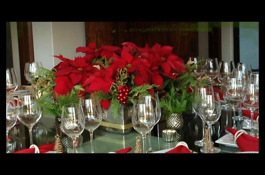 Centro de mesa con nochebuenas ana galena - Youtube centros de mesa navidenos ...