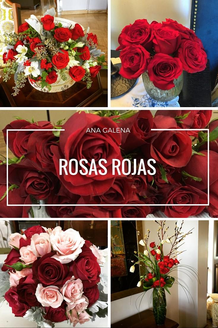 rosas rojas ideas para arreglos florales