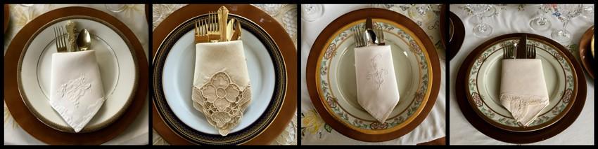 Servilletas para decoraci n mesa formal ana galena for Decoracion de servilletas