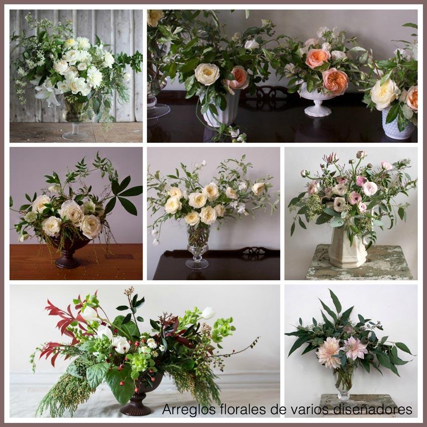 arreglos de flores con soltura y movimiento