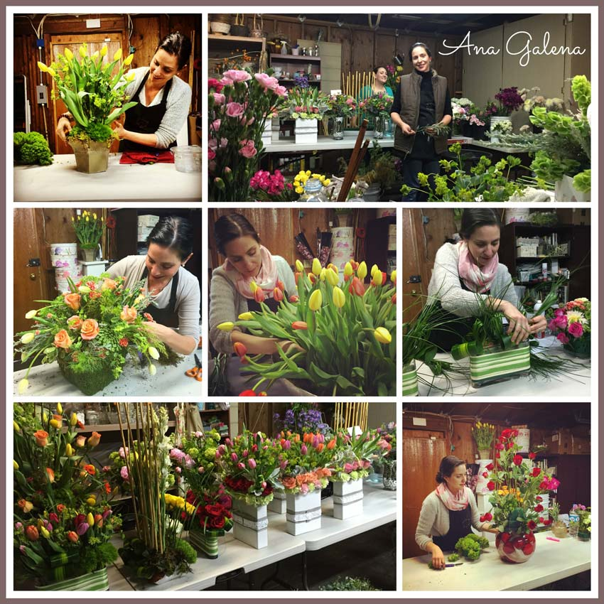 en el taller de diseño floral