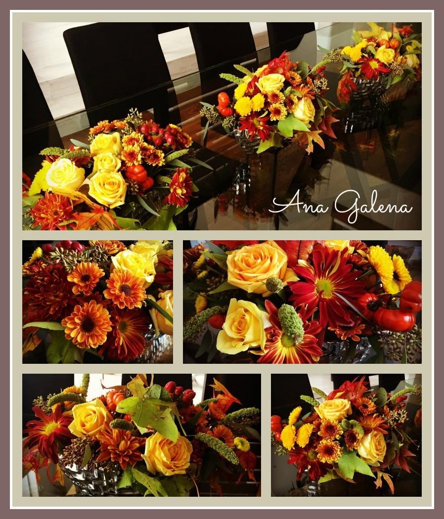 decoración con flores otoño