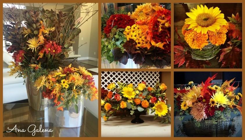 disfrutando el otoño con flores