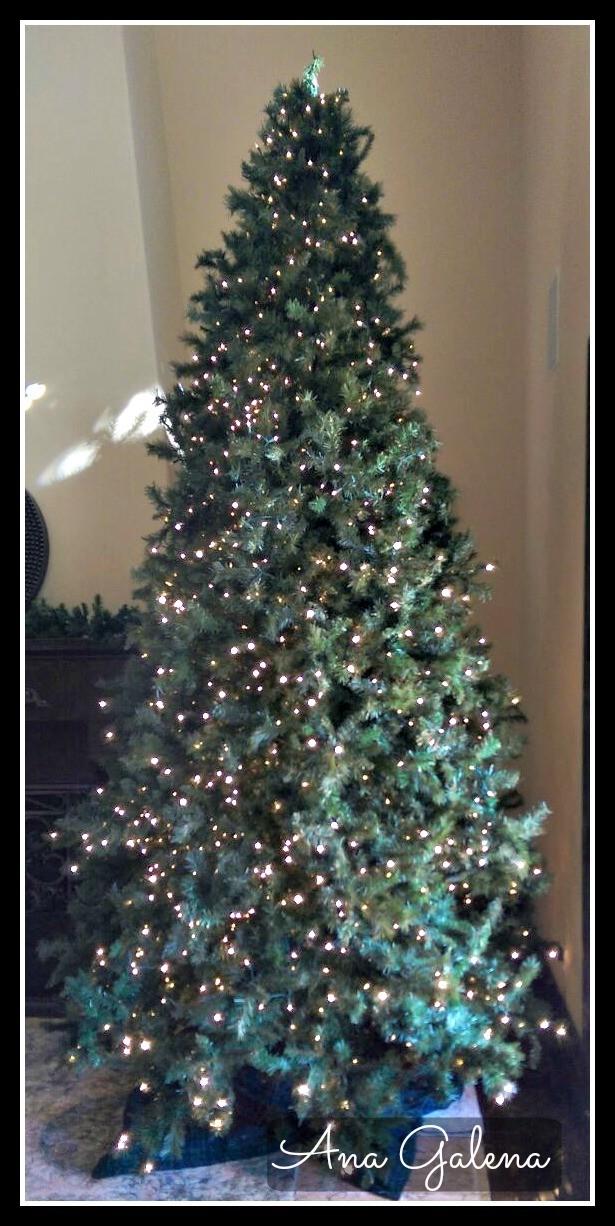 arbol de navidad esponjado