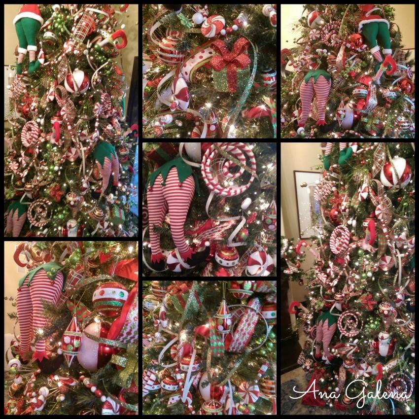 como decorar el arbol de navidad en colores tradicionales