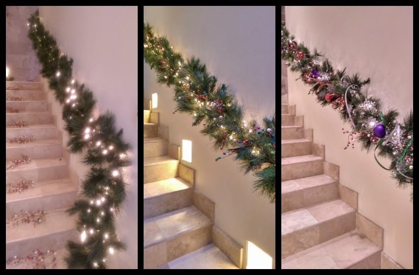 Como decorar una guirnalda navide a con esferas ana galena for Guirnaldas navidenas para puertas y ventanas
