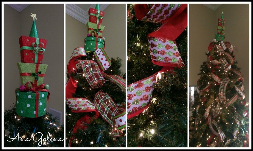 listones en el árbol