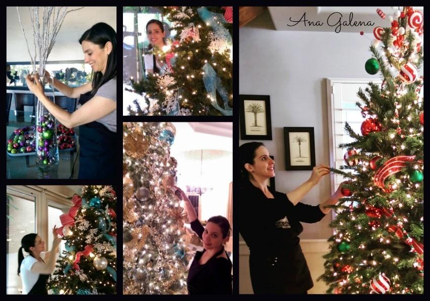 decorando para navidad
