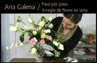 Como hacer arreglo floral en urna