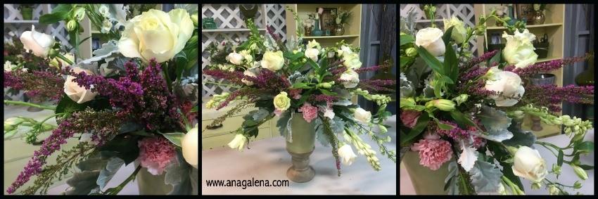 como hacer un arreglo floral en urna paso 9