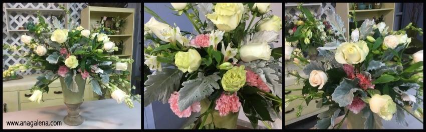 como hacer una arreglo floral en urna paso 8