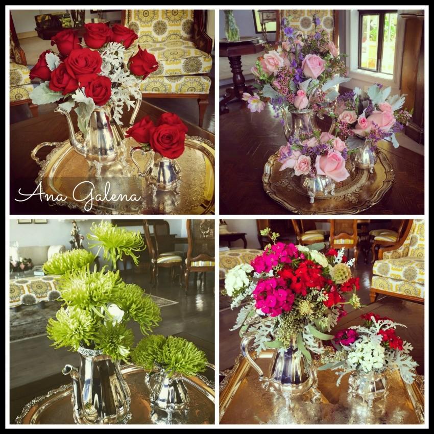 juego de te con flores