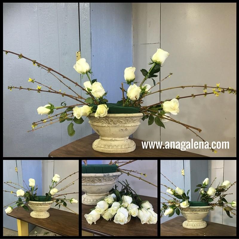 como hacer arreglo de flores