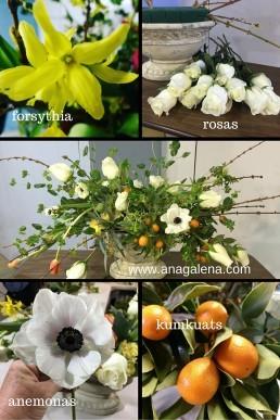 como hacer arreglo floral con kumkuats