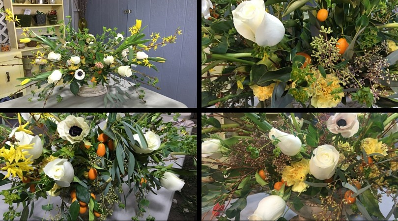 paso por paso como hacer arreglo de flores follage