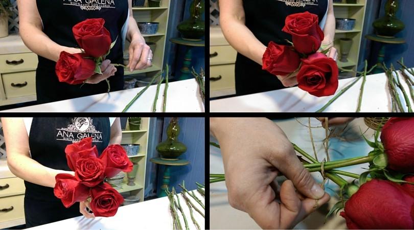 ramo de rosas paso por paso