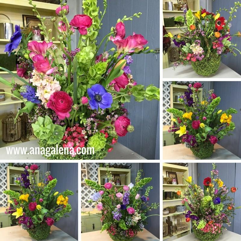 Como hacer un arreglo de flores naturales en canasta ana - Hacer un centro de flores ...