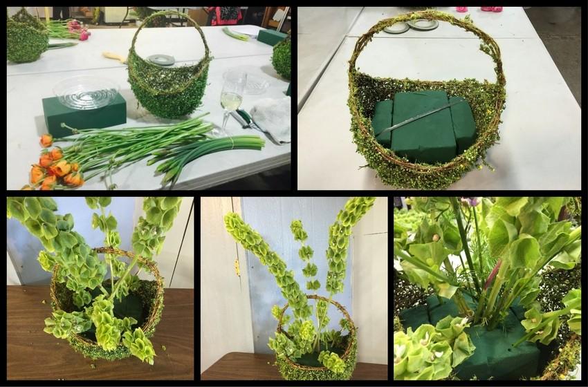preparando-la-canasta-para-ponerle-flores