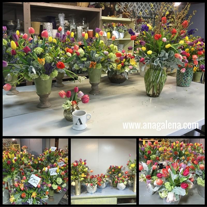 decorando con tulipanes