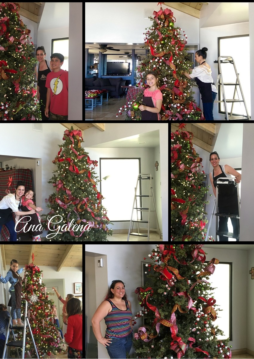 Como decorar el arbol de navidad 2 ana galena for Como decorar un arbol de navidad
