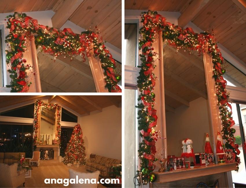 Ideas para decorar la guirnalda en navidad ana galena - Chimeneas decoradas para navidad ...