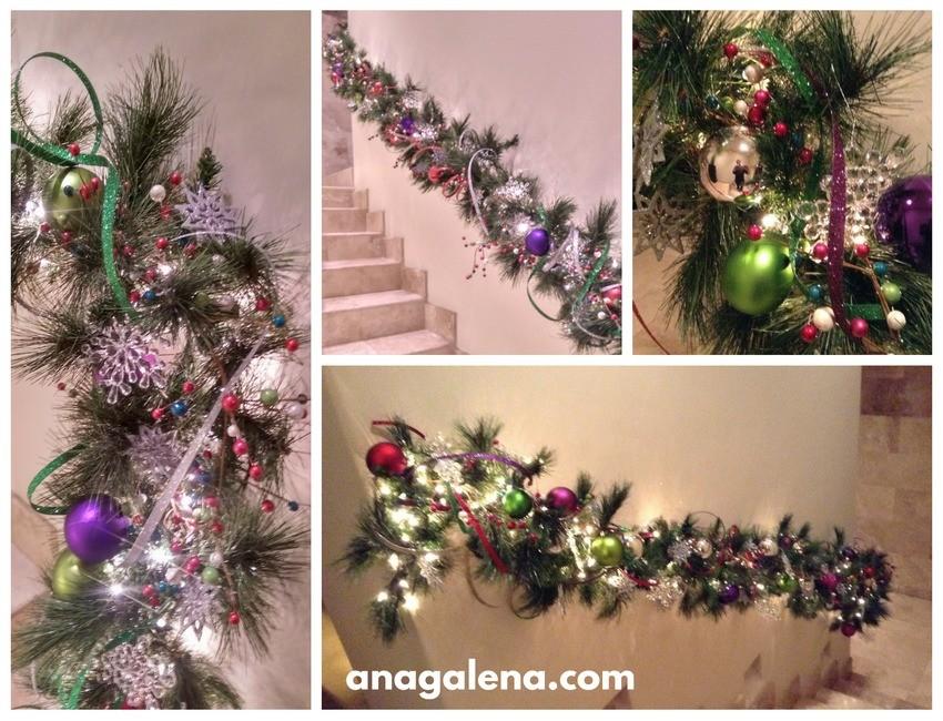 decoracion-de-guirnalda-navidena-en-colores-vivos-y-copos-de-nieve-snowflakes-para-escalera