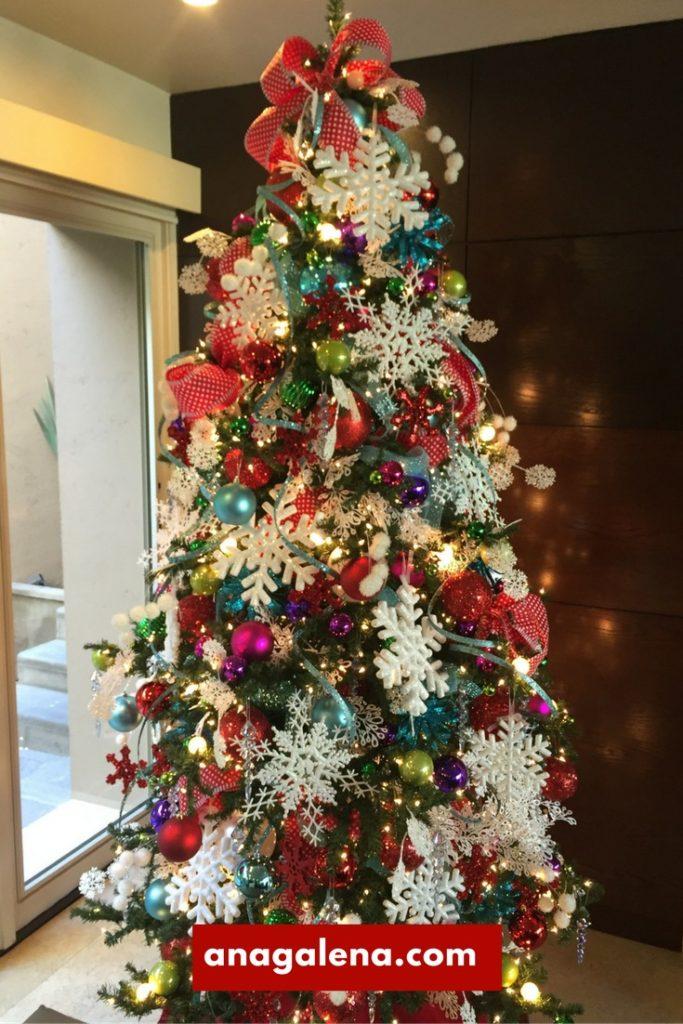 40 ideas para decorar tu rbol de navidad ana galena - Nieve para arbol de navidad ...
