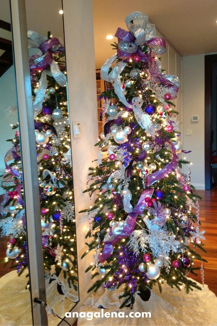 Arbol De Navidad Decorado Azul