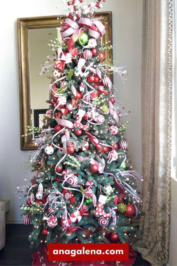 40 ideas para decorar tu rbol de navidad ana galena - Como adornar un arbol de navidad blanco ...