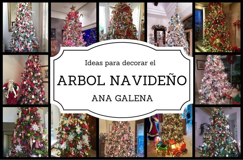 40 ideas para decorar tu rbol de navidad ana galena - Ideas para decorar un arbol de navidad ...