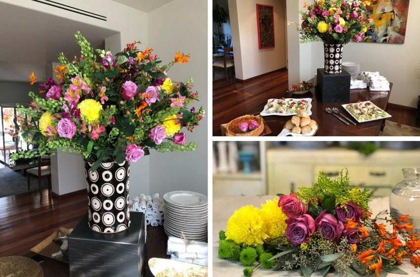 Arreglo Floral Para El Buffet Ana Galena
