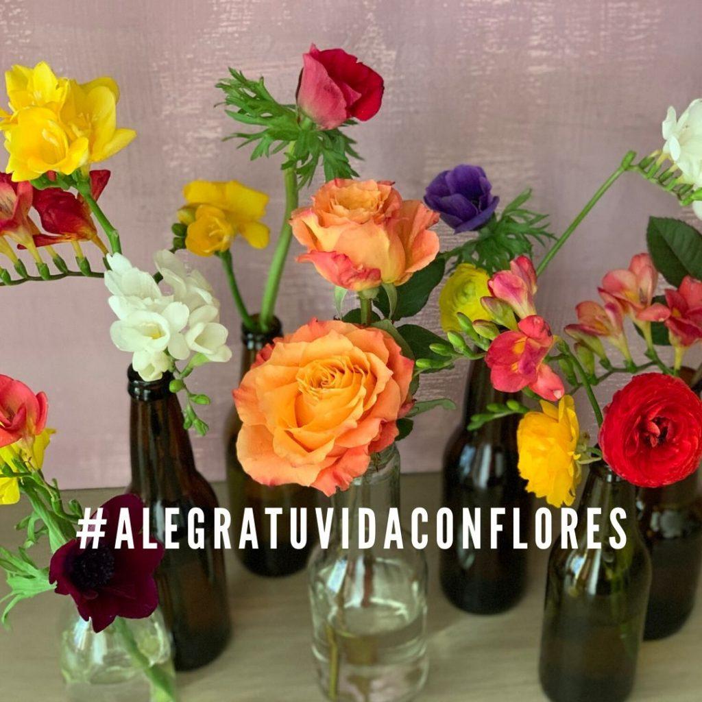 la vida es mejor con flores